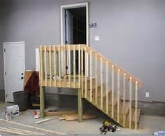 Image Result For Garage Stairs With Landing