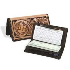 "Tandy Leathercraft Deluxe Check Writer Wallet Kit New 44178-00 by Tandy Leather. $37.59. Recomended for ages 12 and over.. Rubber Cement required to complete- not included.. Size Closed 7"" x 3-3/4"".. Wallet and Checkbook Cover combination kit.. This wallet and checkbook combination kit has a place for everything: credit cards, currency, important papers, standard top-bound checks and register. Th kit includes pre-punched leather parts, leather lace, needle, two tooling patterns ..."