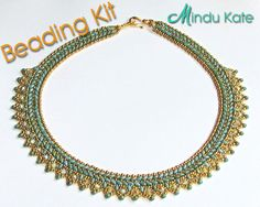 MINDU KATE SuperDuo Beadwork Necklace Beading Kit (Instruction and Materials) Ask a Question $53.00 USD