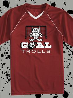 8925092a0 Goal Trolls - funny design idea for custom soccer jerseys