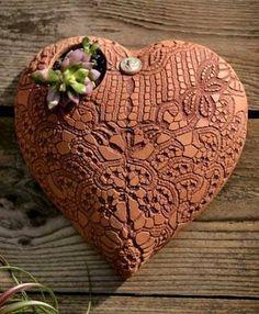 heart of clay wall -