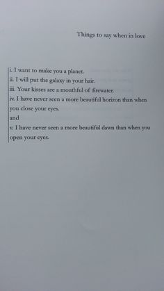 Things To Say When In Love by Tapiwa Mugabe from the book Zimbabwe