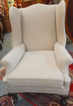 Victorian Wing Back Armchair