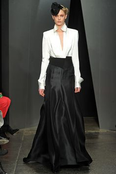 Great for Holiday party; not to fussy but cute.  Fall/ Winter 2012-2013  Maxi Skirt Donna Karan