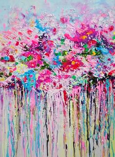 FLOWER EMOTIONS ABSTRACT Vol.III; READY TO HANG (2016) Acrylic painting by Alena Shymchonak | Artfinder