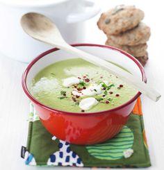 Soup from frozen peas / Hernekeitto pakasteherneistä, resepti – Ruoka. Vegetarian Recepies, Healthy Recipes, Healthy Food, Joy Of Cooking, Cooking Ideas, Pea Soup, Joko, Frozen Peas, I Want To Eat