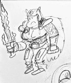 One of the first sketches of  Gara the Blunt  the main character of my  #1001knights comic.  #characterdesign #drawing #sketchbook #comics #comix #barbarian #knights #ladyknights #fantasy #sketch #charactersketch February 01 2016 at 12:35AM