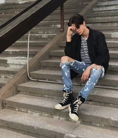 Ripped Denim, Hipster, Pants, Style, Fashion, Trouser Pants, Swag, Moda, Hipsters