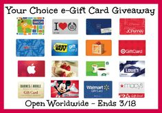 $50 e-Gift Card of Choice Giveaway
