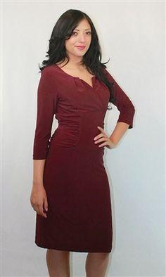 Mikarose Knit Ruched Dress--$138.00. get it @ www.voovoodress.com