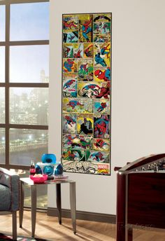 Marvel Comic Panel - Spiderman Classic Peel and Stick Giant Wall Decal Wall Decal at AllPosters.com