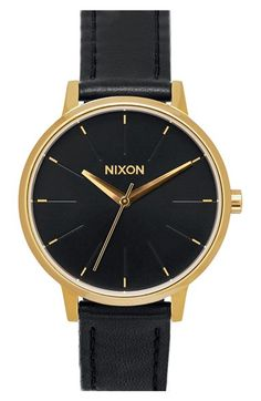 Nixon 'The Kensington' Leather Strap Watch, 37mm available at #Nordstrom