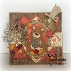 Handmade By Rimmie: GDT Cheerful sketches Marianne Design Cards, Heartfelt Creations, Fall Cards, Panda Bear, Diy Cards, Craft Stores, Mixed Media Canvas, Baby Animals, Projects To Try