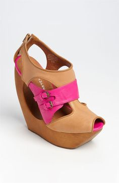 $175 Call me crazy, but I actually can see myself wearing these. Jeffrey Campbell Rock Me sandal platform.