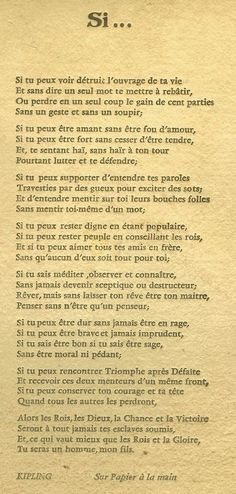 Proverbe essayer d'oublier Proverbe et citation essayer. Essay on violent video games must be banned historylink org essay 14444 essaye d oublier cleo. Poetry Quotes, Words Quotes, Life Quotes, Sayings, Living Quotes, If Rudyard Kipling, French Quotes, French Poems, Some Words