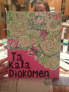 Made this for a friend in kappa delta