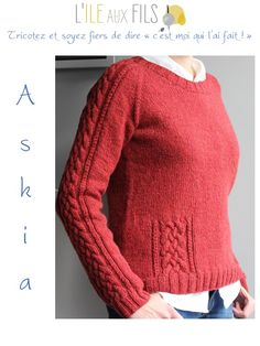 Ravelry: Askia pattern by Cailliau Berangere Fall Outfits For Work, Casual Fall Outfits, Casual Sweaters, Sweaters For Women, Baby Overall, Mint Sweater, Couture, Knitting Videos, Sweater Knitting Patterns
