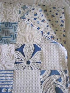 Baby Boys Chenille Cot Quilt