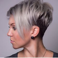 WEBSTA @ shorthair_love - @airy333 #undercut #shorthair #shorthairlove #pixiecut #haircut #hairstyle #hair #blonde