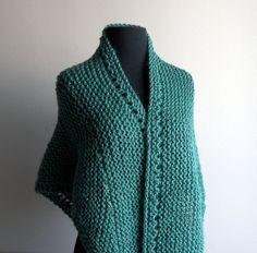 Hand Knit Prayer Meditation Comfort Shawl Wrap by PeacefulPath