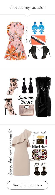 """dresses my passion"" by xaia ❤ liked on Polyvore featuring Emilio Pucci, Gianvito Rossi, Edie Parker, Annie Costello Brown, summerbooties, Giuseppe Zanotti, Topshop Unique, Oscar de la Renta, Donald J Pliner and summerboots"