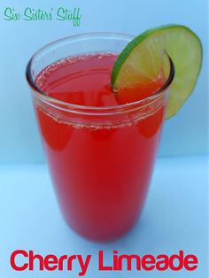 Copycat Sonic Cherry Limeade Drink | SixSistersStuff.com