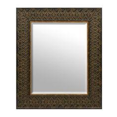 Ornate Tortoise Framed Mirror, 33x39 | Kirklands