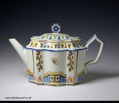 English pottery prattware teapot circa 1810 ...