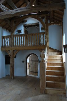 I want to live in this house!    Classic English Interiors, Green Oak Buildings, Bespoke Oak Staircases, Bespoke Oak Furniture, Solid Oak Furniture, Bespoke Oak Kitchens    carvedwood.co.uk