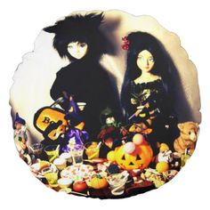 old halloween photo round pillow - home gifts ideas decor special unique custom individual customized individualized