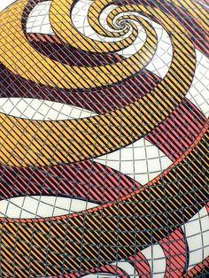 Sphere spirals, 1958, MC Escher