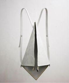 Geometric Folds - rucksack reinvented; fashion minimalism // Yusuke Kagari