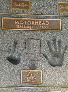 Lemmy leaves his mark