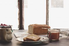 Beer Honey Wheat Bread with Ginger Peach Butter