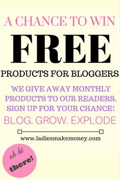 Are you a blogger or an online business? Find out how you can win free products with us today! We are giving our monthly blogging resources to help you grow your business!