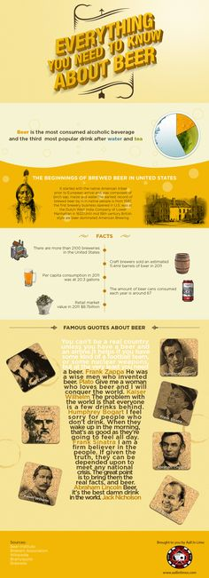 Everything You Need To Know About Beer - Infographic design Beer 101, All Beer, Beer Infographic, Gin, Vodka, Beer Quotes, Wheat Beer, Beer Snob, Home Brewing Beer