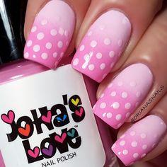 Cute gradient and polka dots