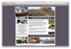 Simple but attractive website for self catering property in Dulnain Bridge, Scotland http://www.broomlandscottage.co.uk/