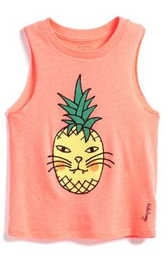 Billabong 'Cattitude' Graphic Muscle Tee (Big Girls) available at #Nordstrom