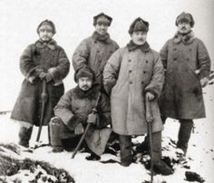 Imperial Japanese Army officers in Alaska, winter, 1943 - pin by Paolo Marzioli Japanese Uniform, Imperial Army, Battle Fight, Prisoners Of War, Army & Navy, Japanese Men, American War, Second World, History Books