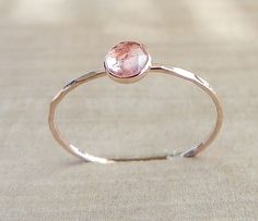 Rose Cut Ring, Pink Tourmaline Ring, Pink Ring, Rose Cut Tourmaline, Rose Gold Ring, Engagement Ring, Graduation gift, Baby Girl Shower
