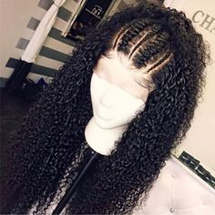 Beautiful long curly wigs for black women lace front wigs human hair wigs hairst. - My list of women's hair styles Curly Lace Frontal, Curly Lace Front Wigs, Curly Hair Styles, Natural Hair Styles, Wig Styles, Braids For Curly Hair, Kinky Curly Wigs, Human Hair Lace Wigs, Human Wigs