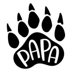 Silhouette Design Store: papa bear paw