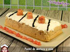 Pastel de merluza y atún, una receta super sencilla, ligera y cocinada en el microondas, en tan sólo 9 minutos!!