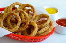 Ditch the deep fryer in favor of this quick and easy recipe for crispy, baked onion rings!