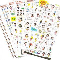 Pony Brown Day & Day Planner Stickers Set (◕ᴥ◕) Kawaii Panda - Making Life Cuter