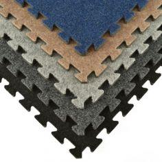 Find basement carpet squares as modular interlocking easy DIY snap together raised carpet tiles for basements floors that are durable carpet tile squares.