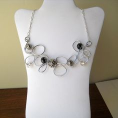 Funky Free Form Wire Necklace