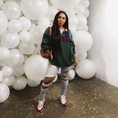 Streetwear Fashion trends and outfits for sale - Featured Fashion Trends - Tomboy Outfits, Chill Outfits, Swag Outfits, Dope Outfits, Trendy Outfits, Black Girl Fashion, Look Fashion, Urban Fashion, Teen Fashion