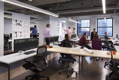 Open plan offices from SmithGroupJJR's Chicago offices